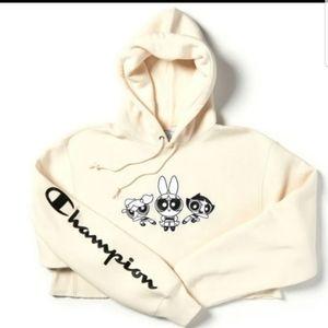 NWT Rare powerpuff girls cropped hoodie